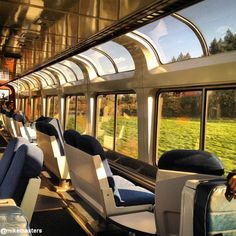 Check out this beautiful view from the Amtrak observation car!