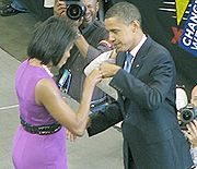 Michelle LaVaughn Robinson Obama (born January 17, 1964) is the wife of the 44th and incumbent President of the United States, Barack Obama, and is the first African-American First Lady of the United States.