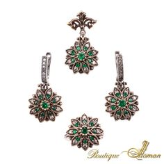 #silver Hareem Exclusive Collection Jewelry Set HS-2064  #jewelry #ottoman