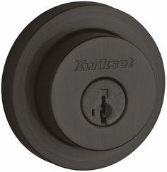 Kwikset 159RDT-S Milan Double Cylinder Deadbolt with Smartkey Technology Venetian Bronze DeadBolt Keyed Entry Double Cylinder