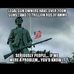 5 Reasons Gun Control Fans Could Be 'Right' About There Being Too Many Firearms in America Thats The Way, That Way, Gun Rights, Conservative Politics, Uk Politics, Benjamin Franklin, God Bless America, Gangsters, Way Of Life