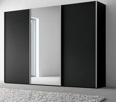 Nolte drie deuren,zwart,spiegel,BASIC nd mat zwart,maat, Matt ca. 245 x 222 x 72 cm, zweefdeuren,spiegel midden,theohuifdeurkast,dr bot,zwaag