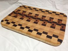 WOW!  Our unique square design end grain cheeseboards.  This will not last in our inventory.  $75.00  http://maccuttingboards.storenvy.com/products/410321-end-grain-square-design-cheeseboards  #end grain #square design