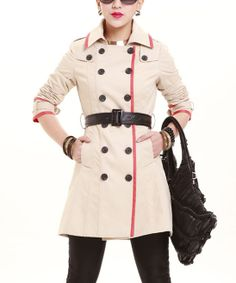 Alabaster Belted Trench Coat   something special every day