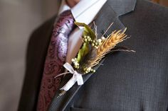 Boutonnieres made from clearance Michaels foliage and ribbon