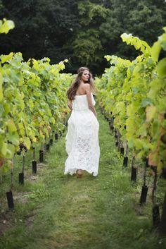 La mariée dans les vignes...Idée photo
