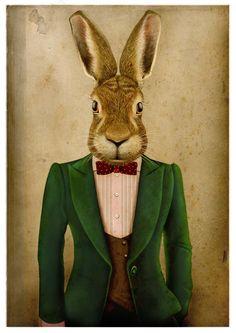 Classy Rabbit / Illustration / Ilustración