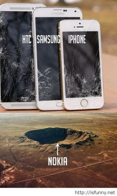 Nokia vs all th phones funny picture