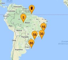 mapa-cervejas-artesanais-brasil-cevas Gabriel, Beer, Maps, Brazil, Argentina, Ale