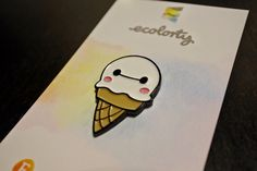 BAYMAX PIN Ice Cream - Enamel Lapel Pin Big Hero 6 Hiro Disney Costume Festival Badge badges pins brooch christmas boyfriend girlfriend gift by ecolorty on Etsy https://www.etsy.com/uk/listing/495212629/baymax-pin-ice-cream-enamel-lapel-pin