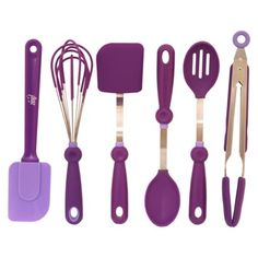 Purple kitchen utensils. Fun!