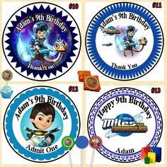 Miles from Tomorrowland Birthday Stickers by BBDesignPrinting