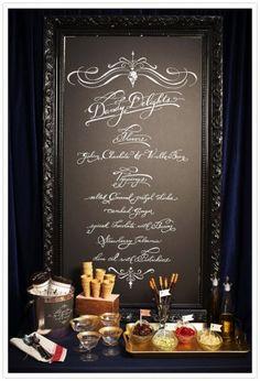 Larger menu sign