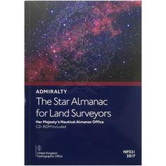 ADMIRALTY: The Star Almanac for Land Surveyors ( NP321-17 | 2017 ) [£20.50] Armani Hotel, Land Surveyors, Itu, Landing, Nautical, Commercial, Stars, Navy Marine, Sterne