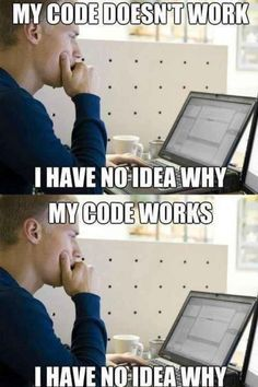 Funny pictures about The essence of programming. Oh, and cool pics about The essence of programming. Also, The essence of programming. Humour Geek, Tech Humor, Computer Humor, Computer Class, Programming Humor, Computer Programming, Python Programming, Ingenieur Humor, Funny Shit