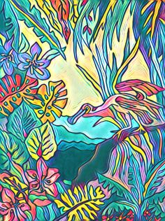 I am a tropical artist from Bradenton, FL. My goal is to bring my art to you through a wide array of colorful purses for the tropical lifestyle. Here's to livin' the beach life thru a tropical world of color. Tropical Colors, Tropical Art, Ship Art, World Of Color, Love Painting, Wall Murals, Original Artwork, Whimsical, My Arts