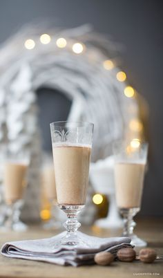 Sea Salt Nutmeg Eggnog. This delicious eggnog recipe contains a cheeky little ingredient that turns this seasonal drink into something altogether more delicious! By Lia Griffith.