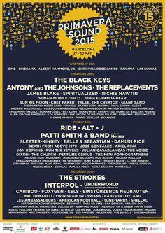 Primavera Sound 2015 Line-up #primaverasound