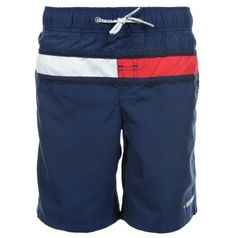 TOMMY HILFIGER FLAG SWIMSHORT BLACK IRIS E557119438 002  | Beachwear | Clothing for boys in RiccardoFashion.co.uk  - Navy blue trunks Tommy Hilfiger brand with a distinctive stripe on the front is a hit for trendy swimmers. Well-designed - with mesh and pocket inside and three outside pockets are the perfect complement to the summer wardrobe. Facts about the product: comfortable pants made of high quality material, navy blue with the Upper material: Polyester, Trouser leg: Straight, Rise…