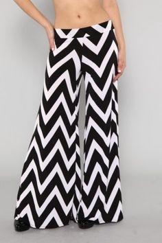 Chevron Pants... #blackandwhite #bold #bellbottom #fashion  https://www.facebook.com/dazzlemedeals