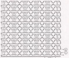 Veronica crochet y tricot. Crotchet Stitches, Crochet Motifs, Crochet Borders, Crochet Diagram, Crochet Stitches Patterns, Crochet Chart, Knit Or Crochet, Crochet Doilies, Easy Crochet