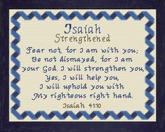 Isaiah - Name Blessings Personalized Cross Stitch Design from Joyful Expressions Biblical Verses, Bible Verses, Cross Stitch Designs, Cross Stitch Patterns, Names With Meaning, Gifts For Family, Custom Framing