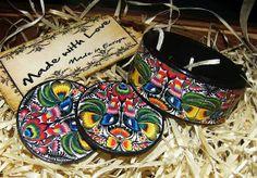 Bracelet and earrings set with the motif of folk by SzaraLotka, $27.20