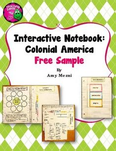 Colonial+America+Interactive+Notebook+Unit+FREEBIE This+is+a+sample+of+my+interactive+notebook+unit+with+assessments+for+Colonial+America.++There+are+3+pages+of+activities,+plus+a+complete+answer+key.++ I+teach+5th+grade+in+Florida,+and+we+use+McGrawHill+United+States+History.