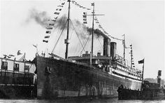 """The golden age of the British passenger ship is often said to have been between the late 19th century and the 1960s, when increasing emigration and trade created a market for fast, comfortable ships. """"At the turn of the century, alongside her vast geographic empire, the British flag flew from more ships than any other,"""" says William Miller, author of Great British Passenger Ships. This is the White Star Line's Adriatic, a 24,000-ton ship which came into service in 1907"""