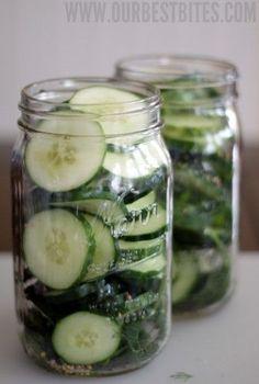 cucumbers in jars