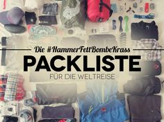 Weltreise Packliste: Das ist die ultimative Packliste für deine Weltreise. So packst du deinen Rucksack richtig für deine Weltreise.