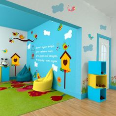 Daycare Design, Playroom Design, Playroom Furniture, Kids Furniture, Preschool Classroom Decor, Kindergarten Interior, Nursery Layout, Baby Playroom, Kids Cafe