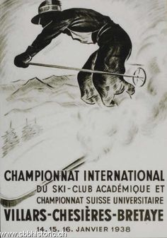 Champ. int. du ski - Championnat international du ski - Villars-Chesières-Bretaye.1938 -