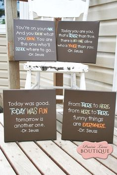 Dr Seuss Quote Canvas Wall Art