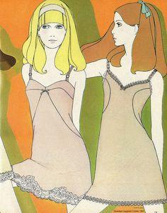 Illustration from Seventeen magazine, 1968