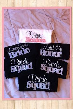 Bridal tank tops (1). bachelorette party shirts. bridesmaids shirts.wedding party. embroidered on Etsy, $25.00