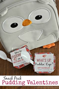 Snack Pack Pudding Valentine Printables #SnackPack #ad