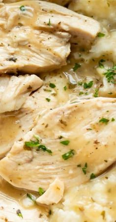 This Instant Pot chicken and gravy recipe has tender chicken breasts smothered in gravy. It& easy to make and ready in just over 30 minutes! Chicken Breast Instant Pot Recipes, Frozen Chicken Recipes, Best Instant Pot Recipe, Instant Pot Dinner Recipes, Healthy Chicken Recipes, Slow Cooking, Cooking Recipes, Kid Recipes, Instant Pot Pressure Cooker