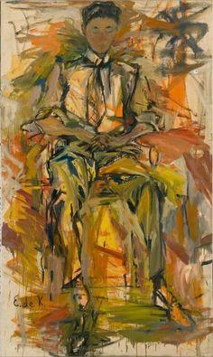 Elaine de Kooning (American, Conrad Fried, Oil on canvas, 80 × 46 in. De Kooning Paintings, Abstract Expressionism, Abstract Art, Elaine De Kooning, Willem De Kooning, Art Moderne, Joan Mitchell, Helen Frankenthaler, Art Plastique