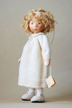 Blond Girl In Cream Knit DJ038 by Elisabeth Pongratz at The Toy Shoppe