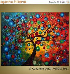 Original Large Painting SEASONS SERENADE Modern by LUIZAVIZOLI