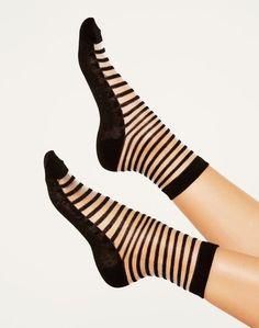 Striped Mesh Sock