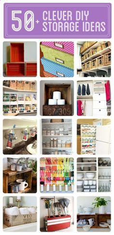 50  Clever DIY Storage  Organization Ideas - Goes way beyond just Homeschool storage!