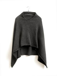 100   Cashmere Poncho by suttonsknitwear on Etsy, $140.00