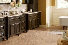A beautiful and affordable bathroom floor.