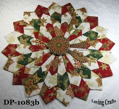 """One Christmas Center Piece Dresden Plate Quilt Block 16 1/2"""" - #1083   Crafts, Sewing, Quilting   eBay!"""