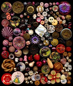 Buttons, buttons and more buttons.. Some modern and some vintage,,