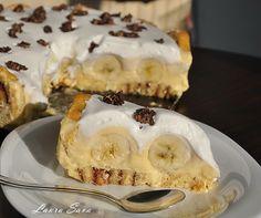 Tort cu rulada si banane Cheesecake, Pie, Sweets, Desserts, Recipes, Food, Style, Banana, Torte