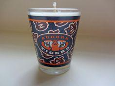 Auburn Tigers Soy Shot Glass Candle  CHOICE by ThreeChickadeeLane, $7.99