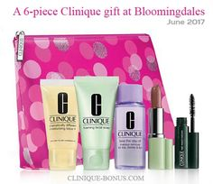 Complimentary Clinique 6-piece gift available now at Bloomingdales free when you spend $40 or more. http://clinique-bonus.com/other-us-stores/
